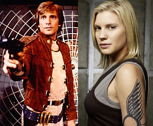 Battlestar Galactica's controversial (for viewers at least) change of gender for a major character
